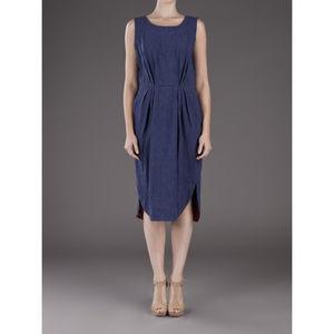 Chris Benz linen & Liberty print midi dress